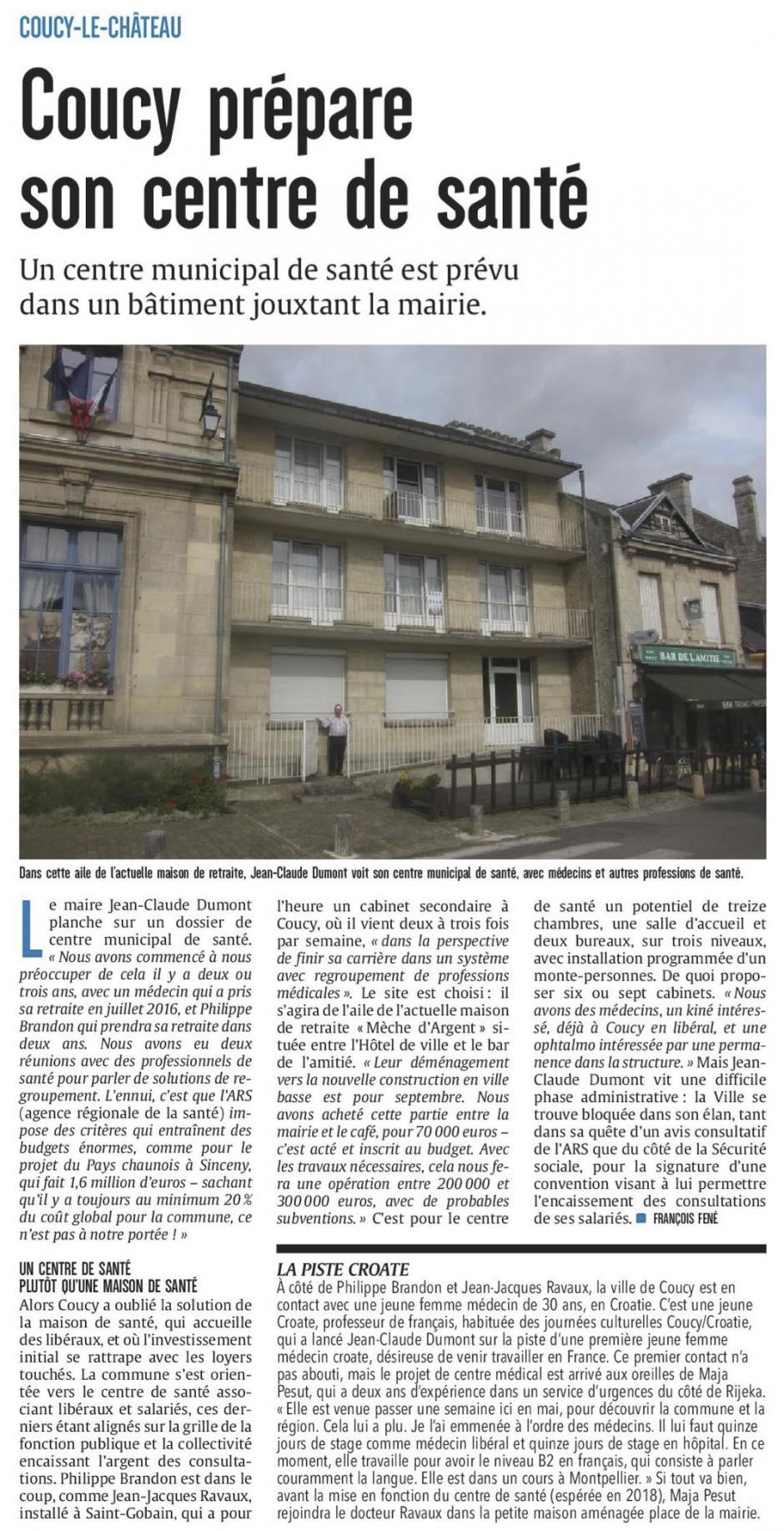 20170802-CP-Coucy-le-Château-La municipalité prépare son centre de santé [édition Aisne]