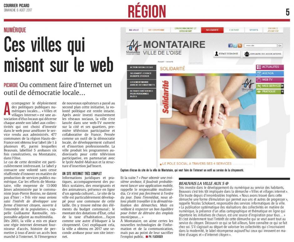 20170806-CP-Picardie-Ces villes qui misent sur le web [Montataire]