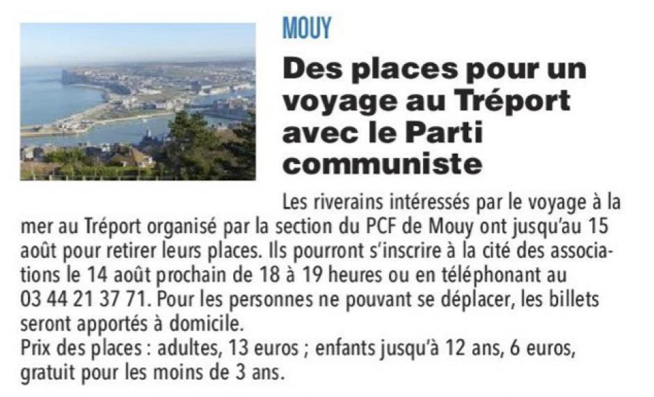 20170810-CP-Mouy-Des places pour un voyage au Tréport avec le Parti communiste