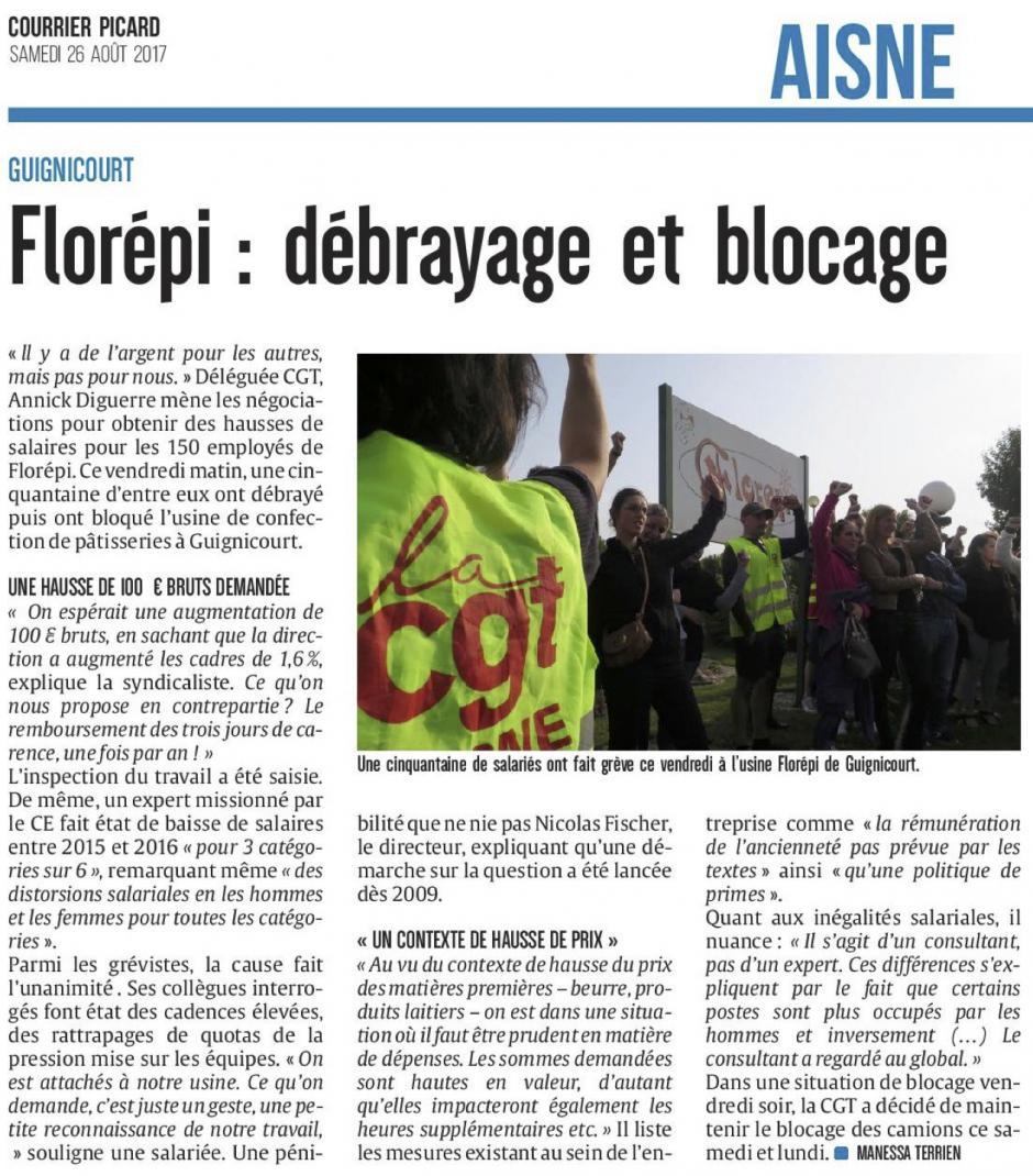 20170826-CP-Guignicourt-Florépi : débrayage et blocage [édition Aisne]