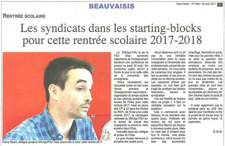 20170830-OH-Oise-Les syndicats dans les starting-blocks pour cette rentrée scolaire 2017-2018