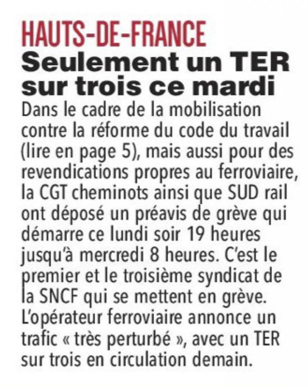 20170911-CP-Hauts-de-France-Seulement un TER sur trois ce mardi