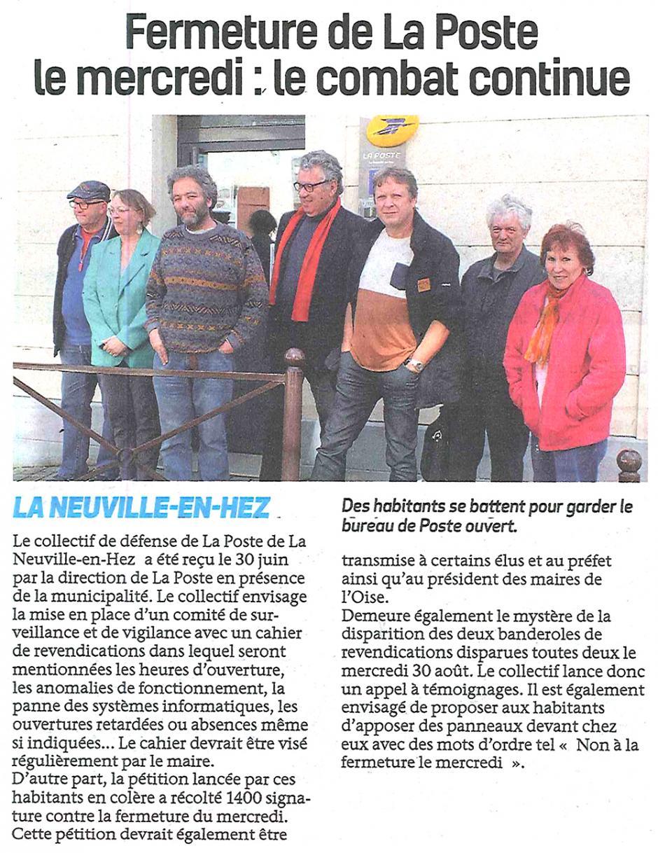 20170913-BonP-La Neuville-en-Hez-Fermeture de la Poste le mercredi : le combat continue
