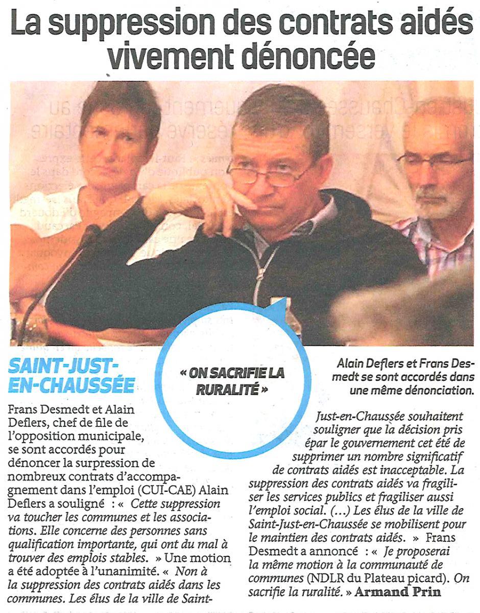 20170913-BonP-Saint-Just-en-Chaussée-La suppression des contrats aidés vivement dénoncée