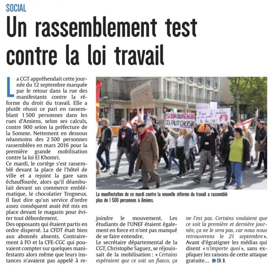 20170913-CP-Amiens-Un rassemblement test contre la loi Travail [édition Amiens]