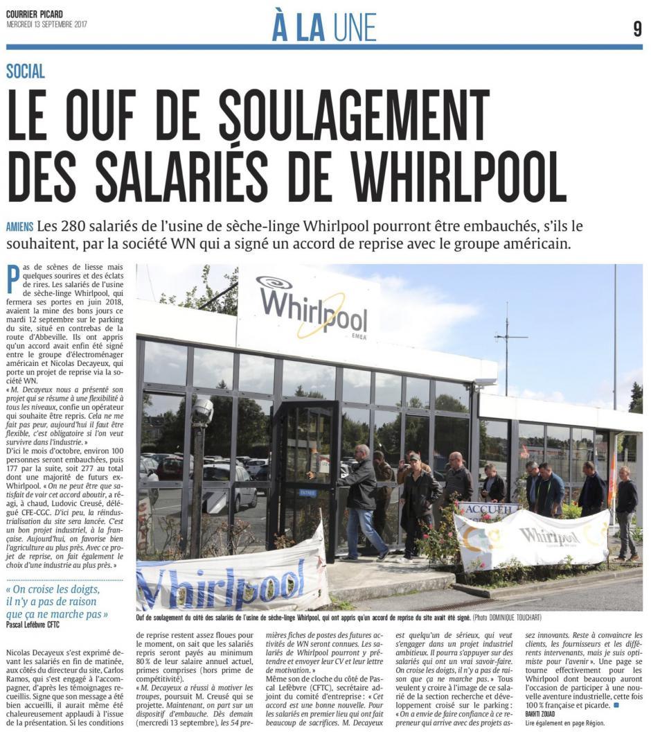 20170913-CP-Amiens-Le ouf de soulagement des salariés de Whirlpool [édition Amiens]
