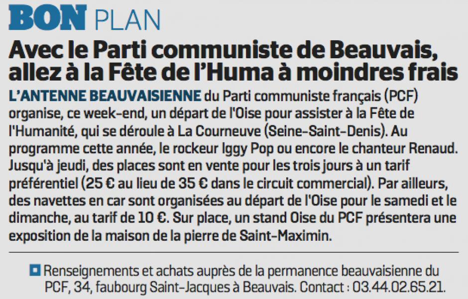 20170913-LeP-Beauvais-Avec le Parti communiste de Beauvais, allez à la Fête de l'Huma à moindres frais