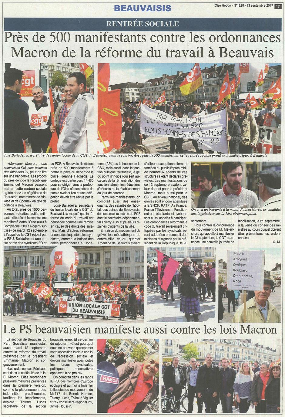 20170913-OH-Beauvais-Près de 500 manifestants contre les ordonnances Macron de la réforme du travail