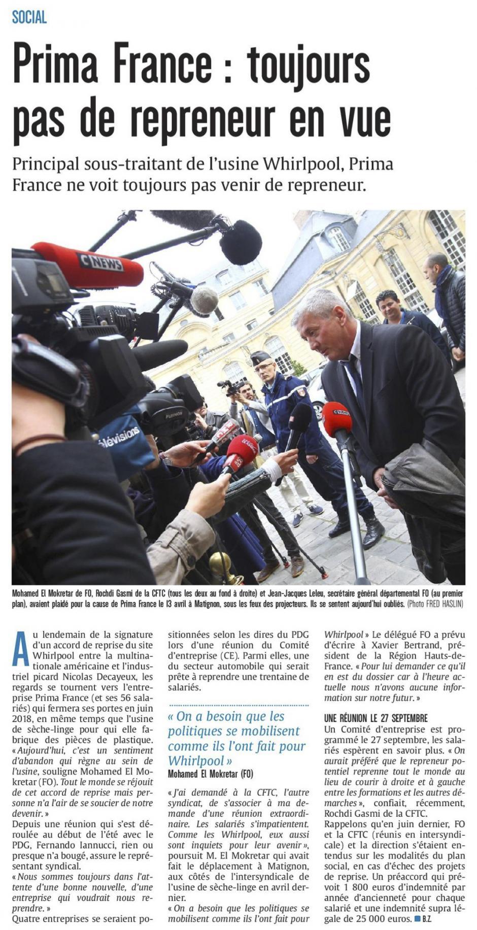 20170915-CP-Amiens-Prima France : toujours pas de repreneur en vue [édition Amiens]