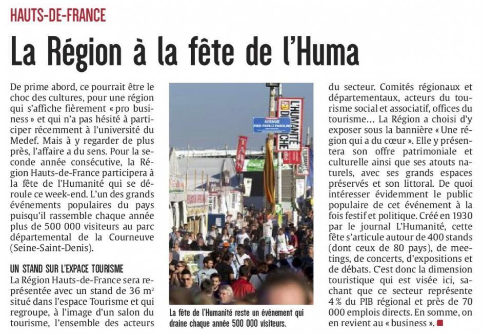 20170915-CP-Hauts-de-France-La Région à la Fête de l'Huma