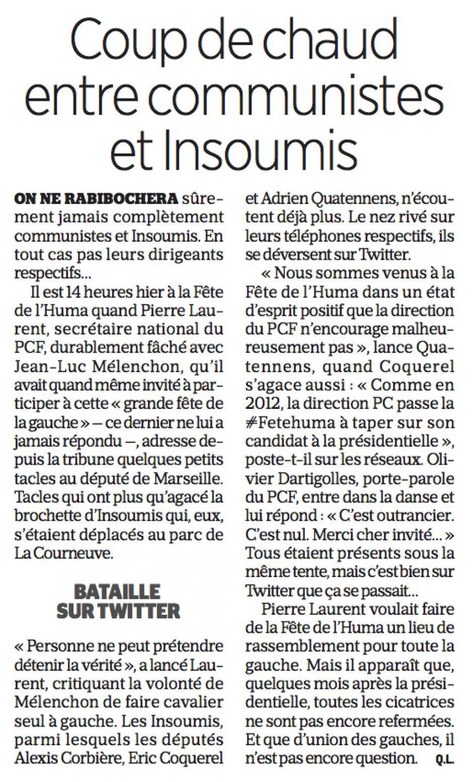 20170917-LeP-France-Coup de chaud entre communistes et insoumis