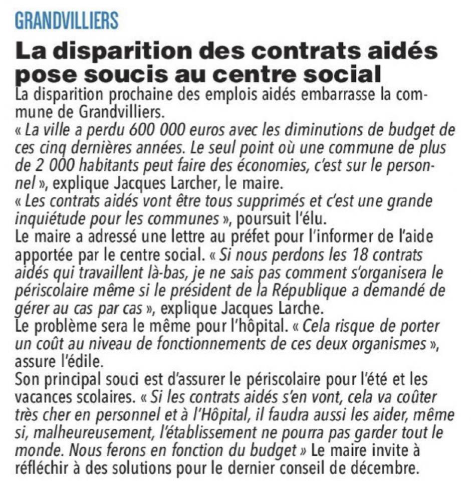 20170919-CP-Grandvilliers-La disparition des contrats aidés pose soucis au centre social
