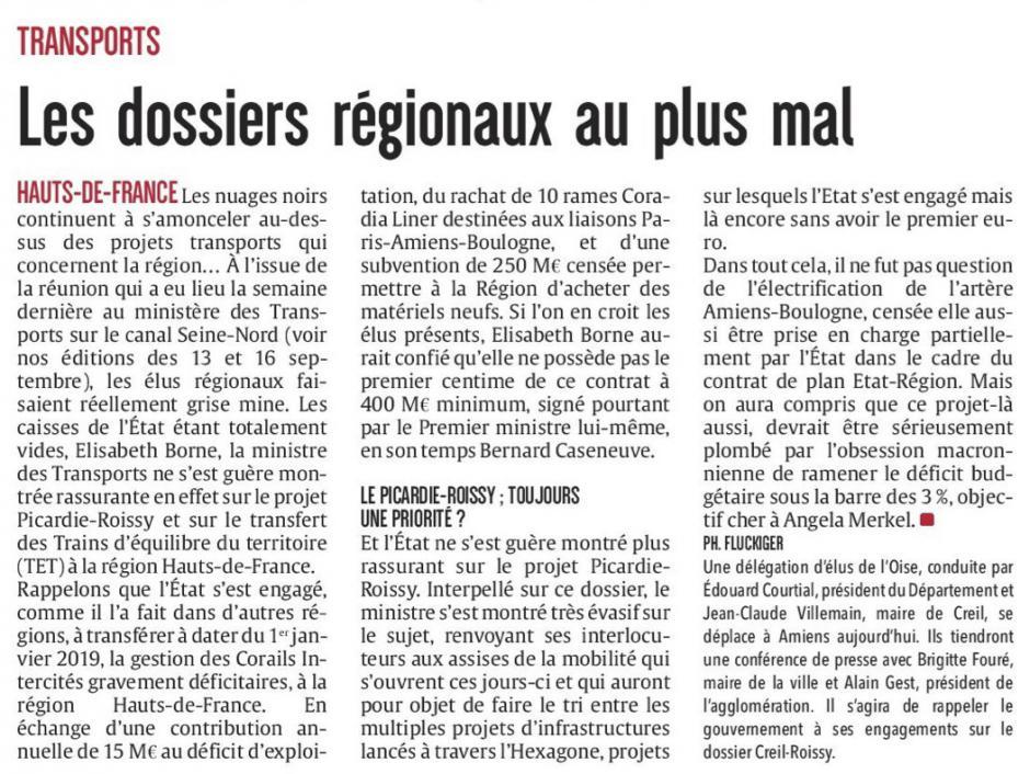 20170919-CP-Hauts-de-France-Transport : les dossiers régionaux au plus mal