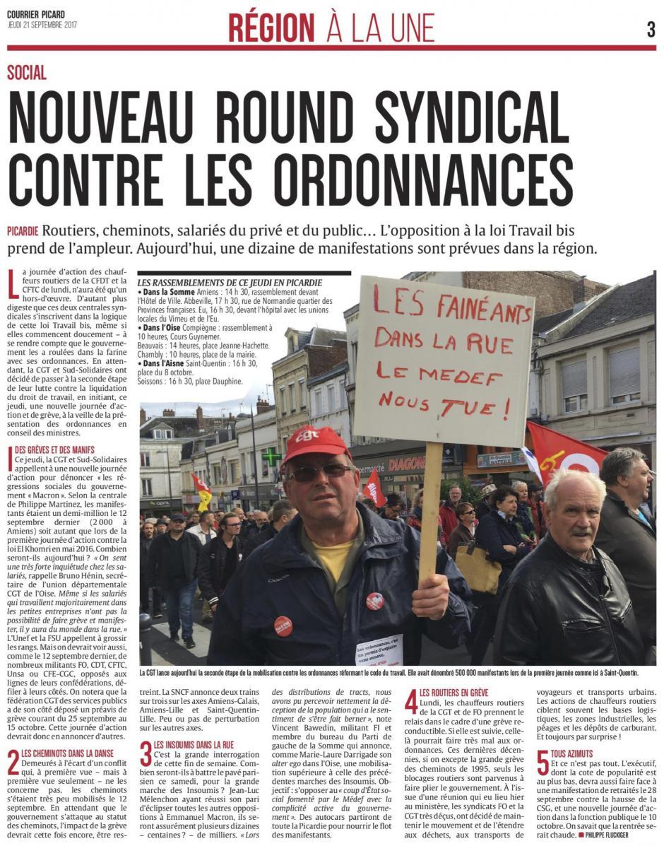 20170921-CP-Picardie-Nouveau round syndical contre les ordonnances