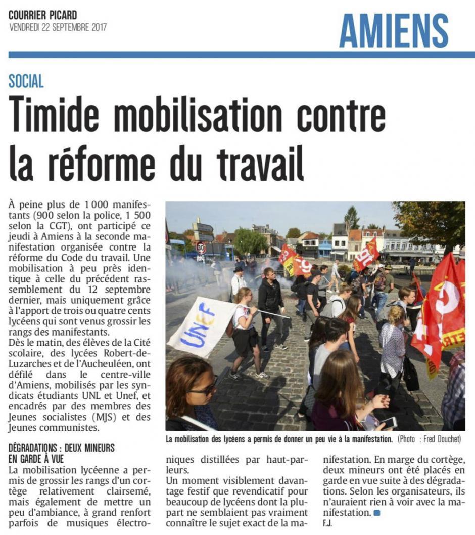 20170922-CP-Amiens-Timide mobilisation contre la réforme du travail [édition Amiens]