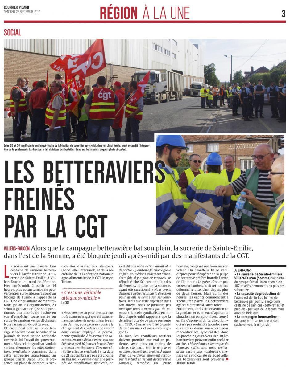 20170922-CP-Villers-Faucon-Les betteraviers freinés par la CGT