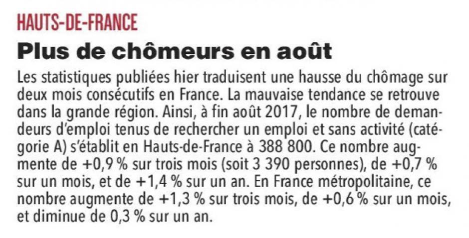 20170927-CP-Hauts-de-France-Plus de chômeurs en août