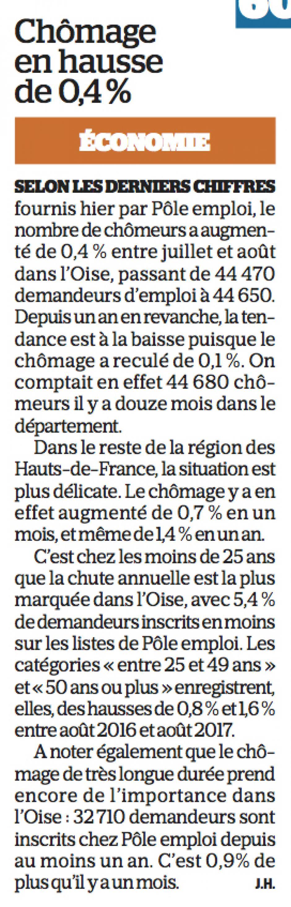 20170927-LeP-Oise-Chômage en hausse de 0,4 %