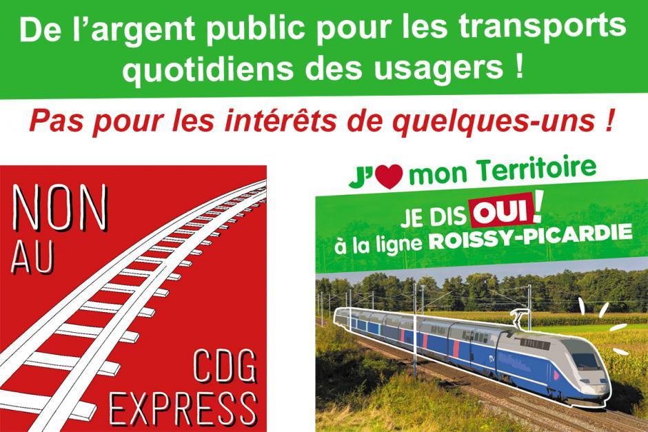 NON au CDG Express ! OUI au barreau ferroviaire Roissy-Picardie et à l'intérêt général !