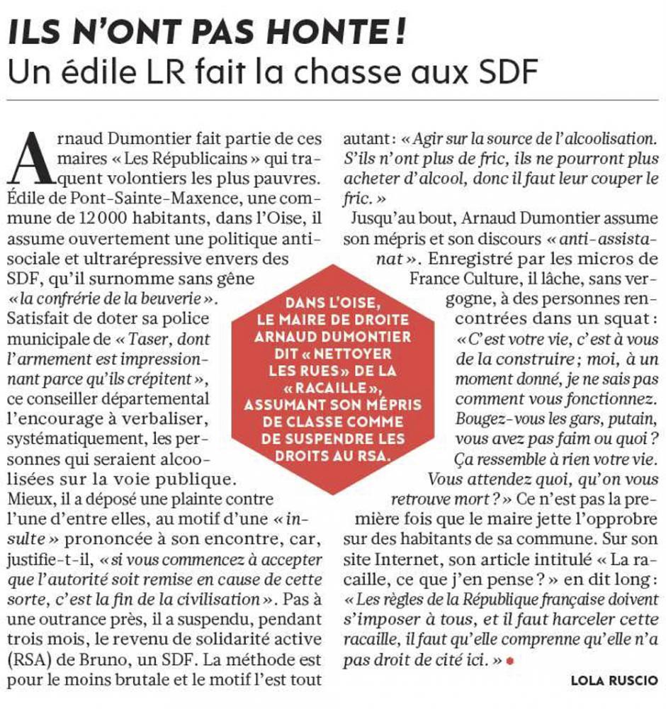 20171005-L'Huma-Pont-Sainte-Maxence-Un édile LR fait la chasse aux SDF