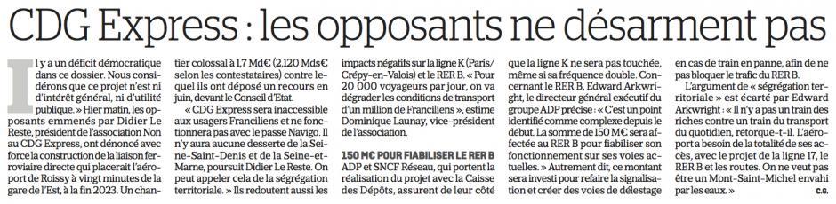 20171007-LeP-Île-de-France-CDG Express : les opposants ne désarment pas
