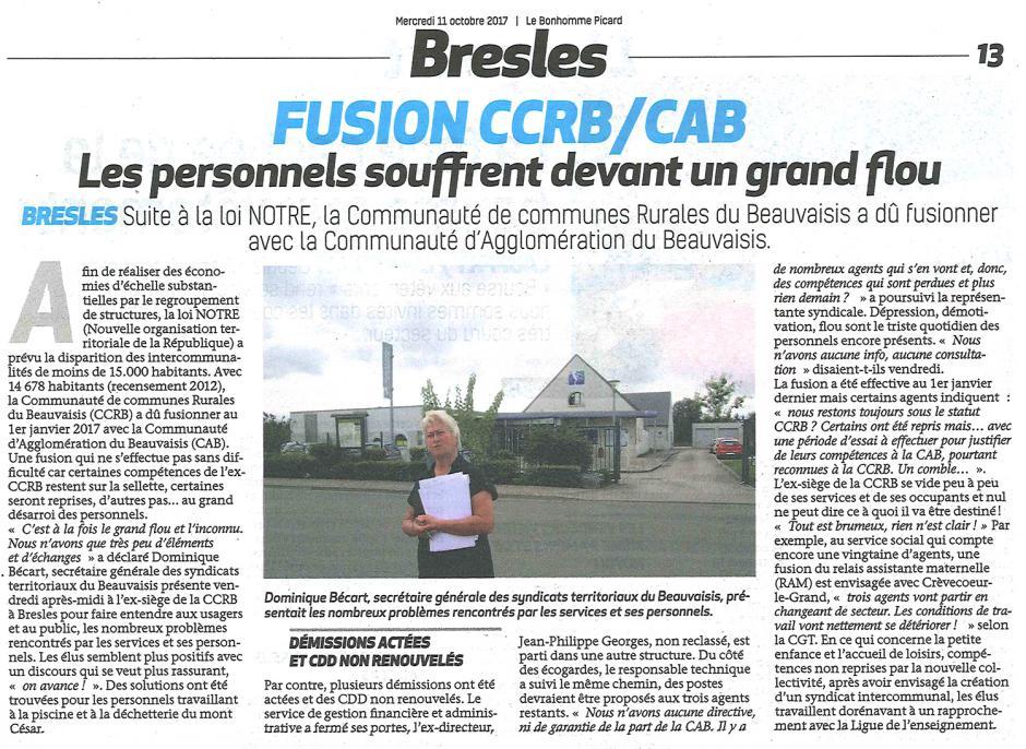 20171011-BonP-Beauvaisis-Fusion CCRB/CAB : les personnels souffrent devant un grand flou
