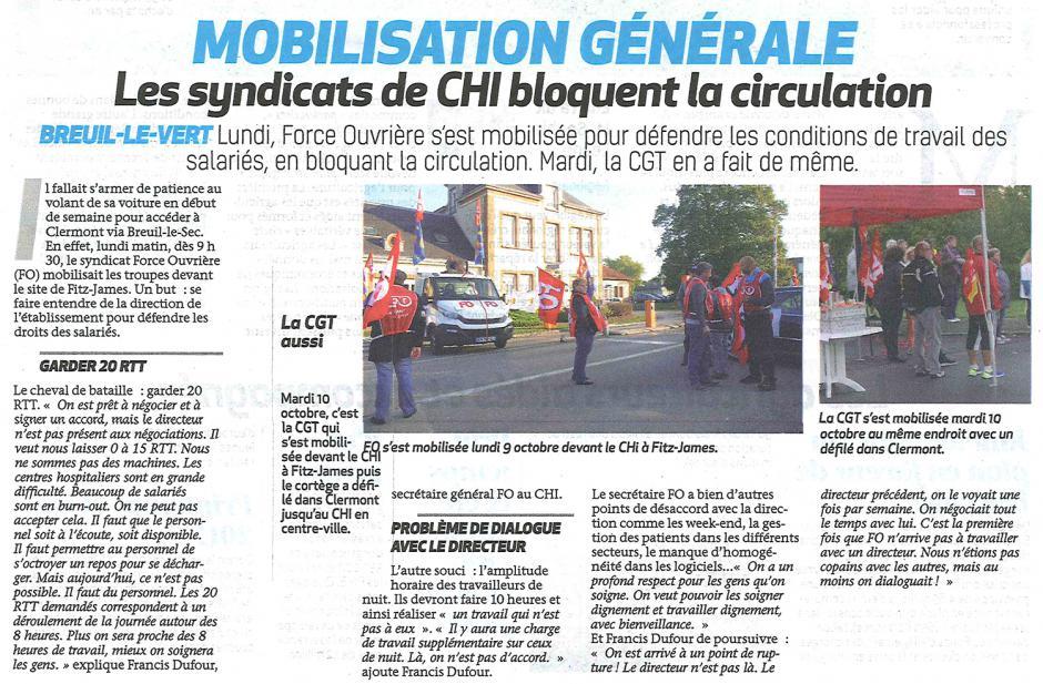 20171011-BonP-Clermont-Mobilisation générale : les syndicats de CHI bloquent la circulation