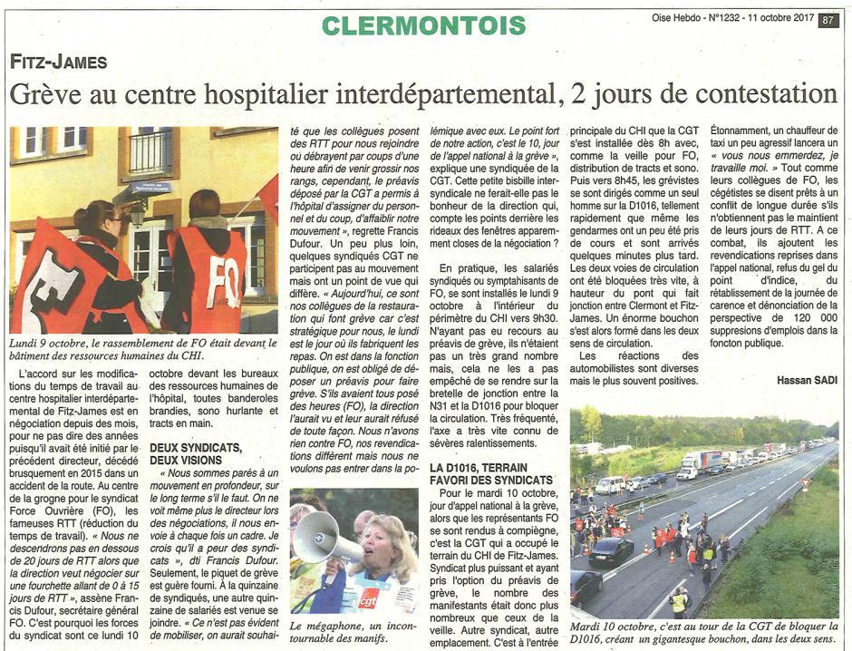 20171011-OH-Clermont-Grève au centre hospitalier interdépartemental, 2 jours de contestation