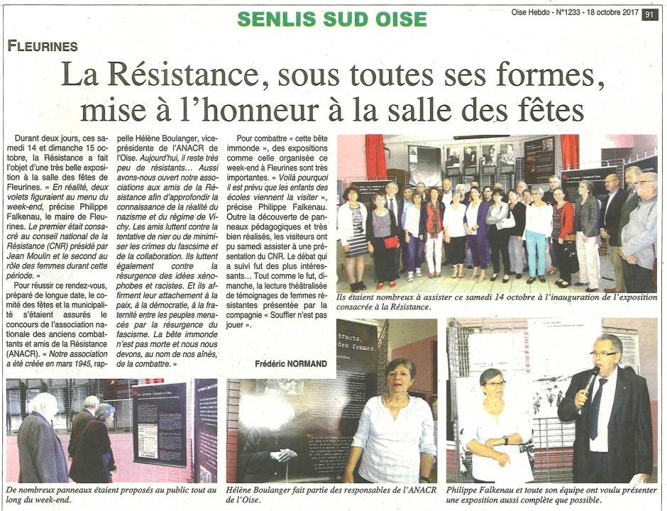 20171018-OH-Fleurines-La Résistance, sous toutes ses formes, mise à l'honneur à la salle des fêtes