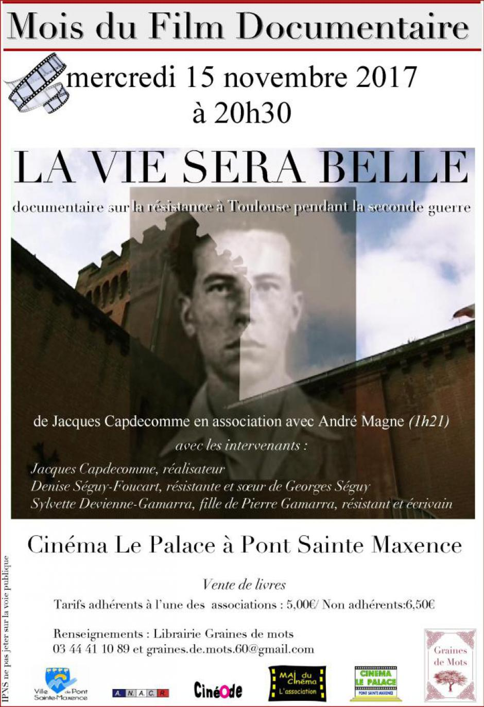 15 novembre, Pont-Sainte-Maxence - Projection-échanges « La vie sera belle »