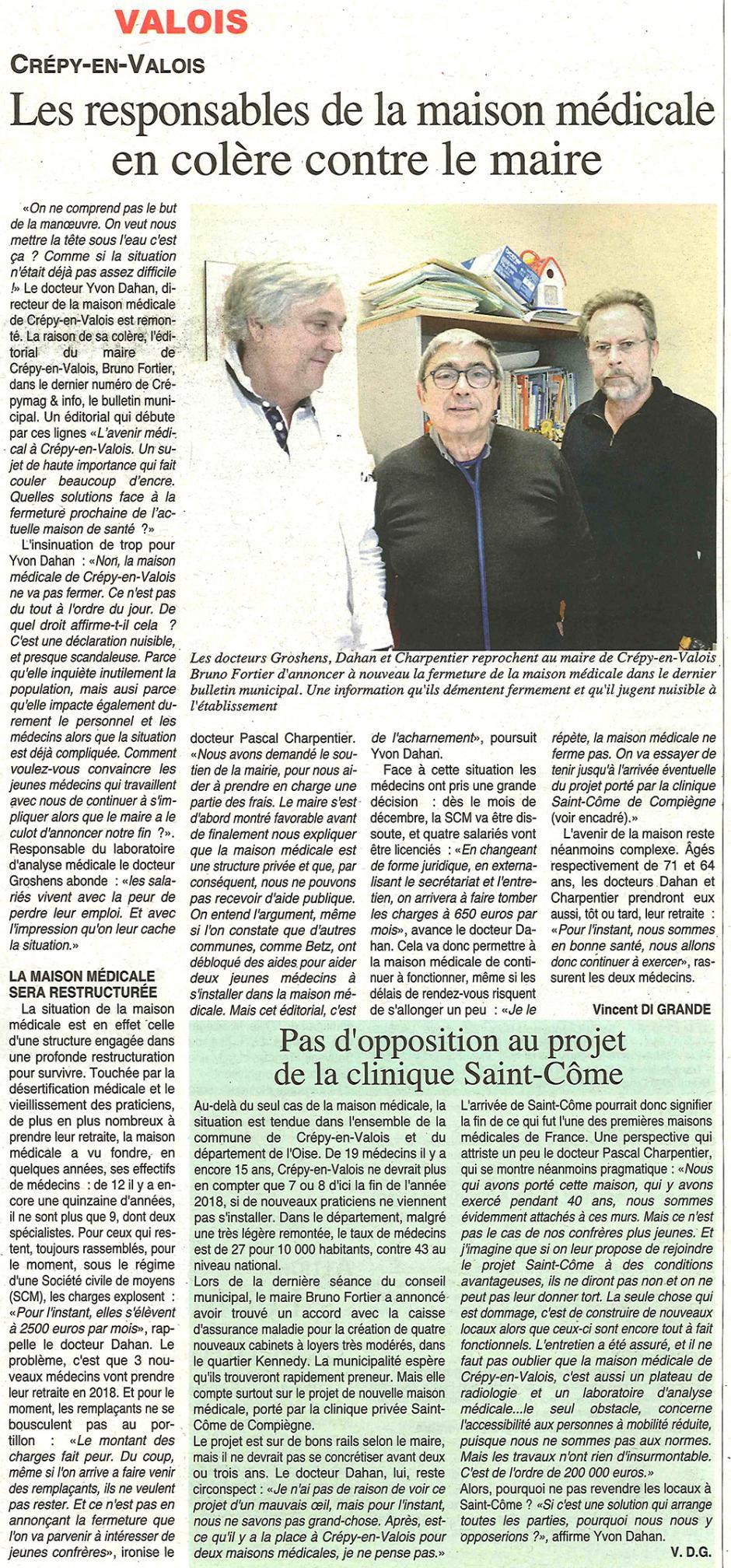 20171115-OH-Crépy-en-Valois-Les responsables de la maison médicale en colère contre le maire