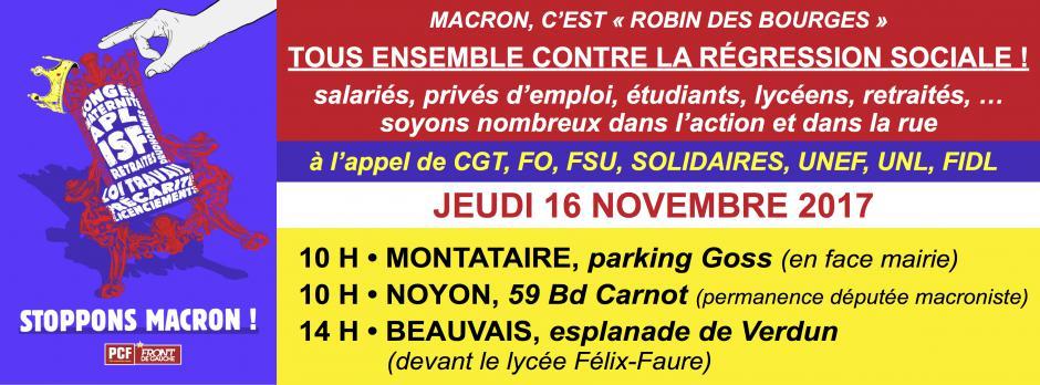 16 novembre, France - Journée nationale de mobilisation interprofessionnelle, étudiante et lycéenne
