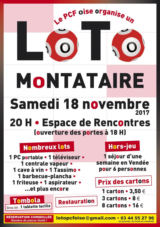 18 novembre, Montataire - Super loto des communistes de l'Oise