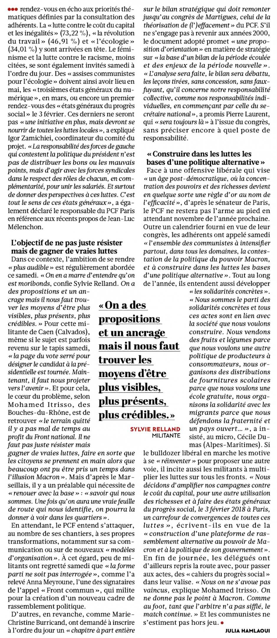 20171120-L'Huma-France-Le PCF se donne les moyens d'une « Rêvolution »