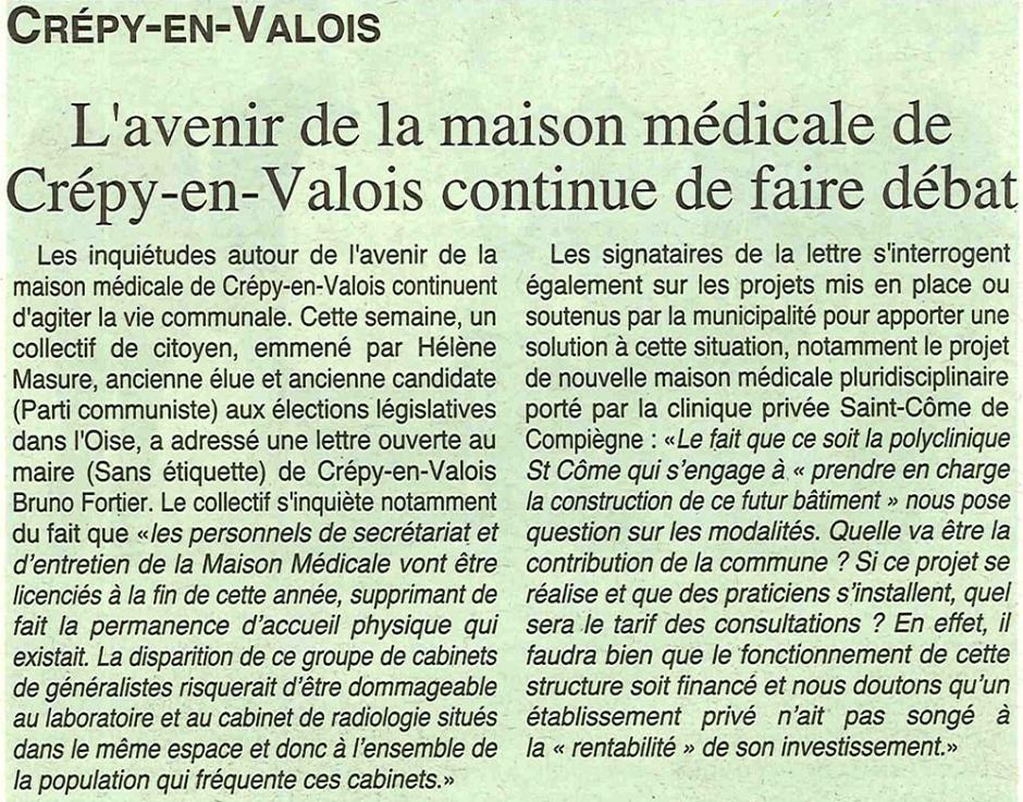 20171122-OH-Crépy-en-Valois-L'avenir de la maison médicale continue de faire débat