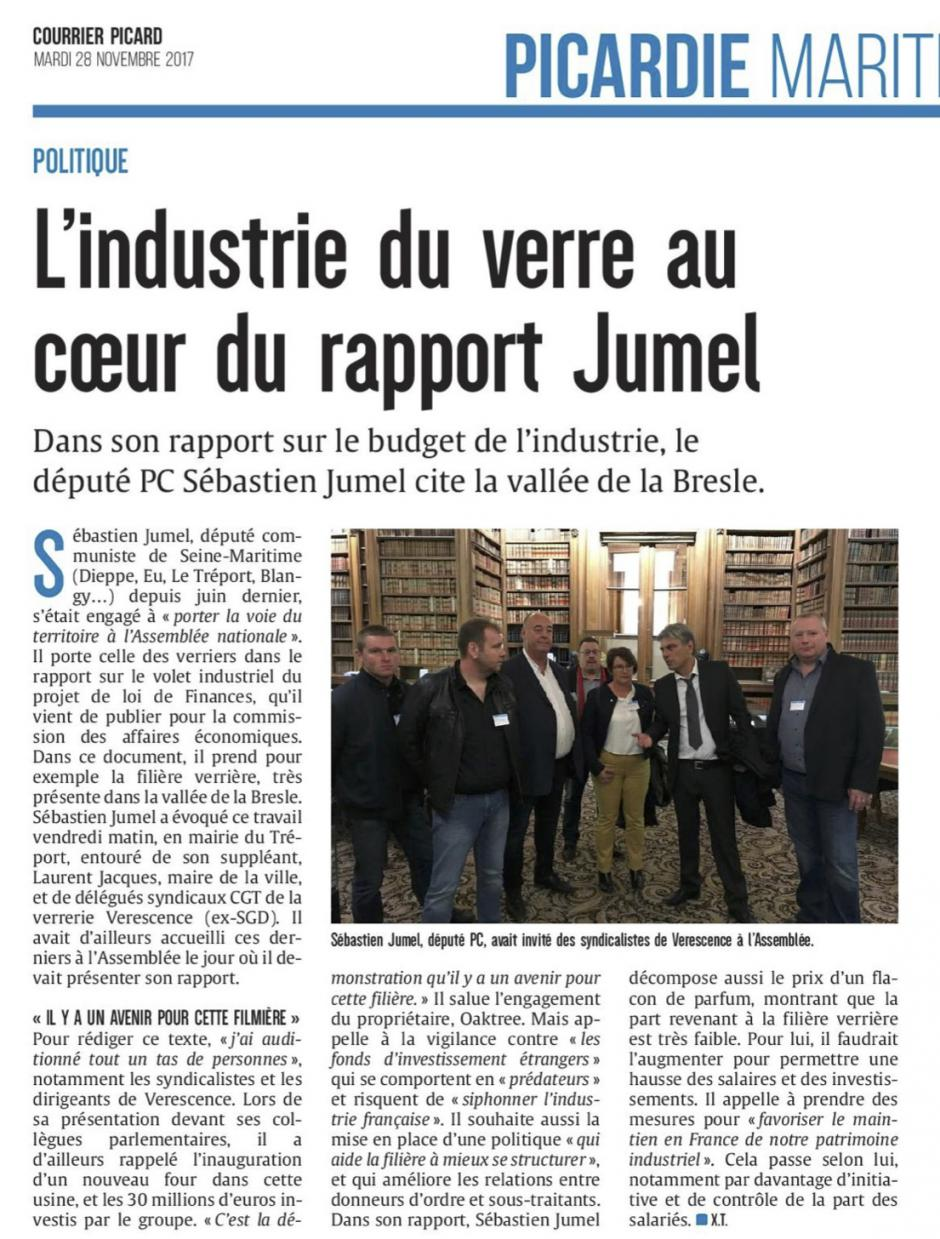 20171128-CP-France-L'industrie du verre au cœur du rapport Jumel [édition Picardie maritime]