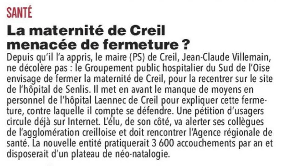 20171206-CP-Creil-La maternité menacée de fermeture ? [pages régionales]
