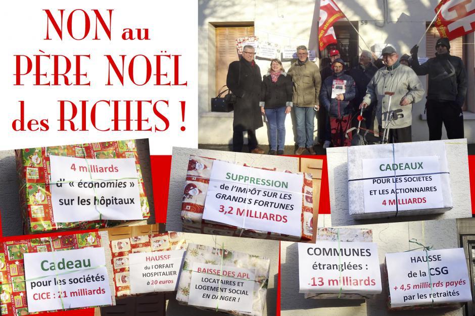 Non au Père Noël des riches ! - Noyon, 16 décembre 2017