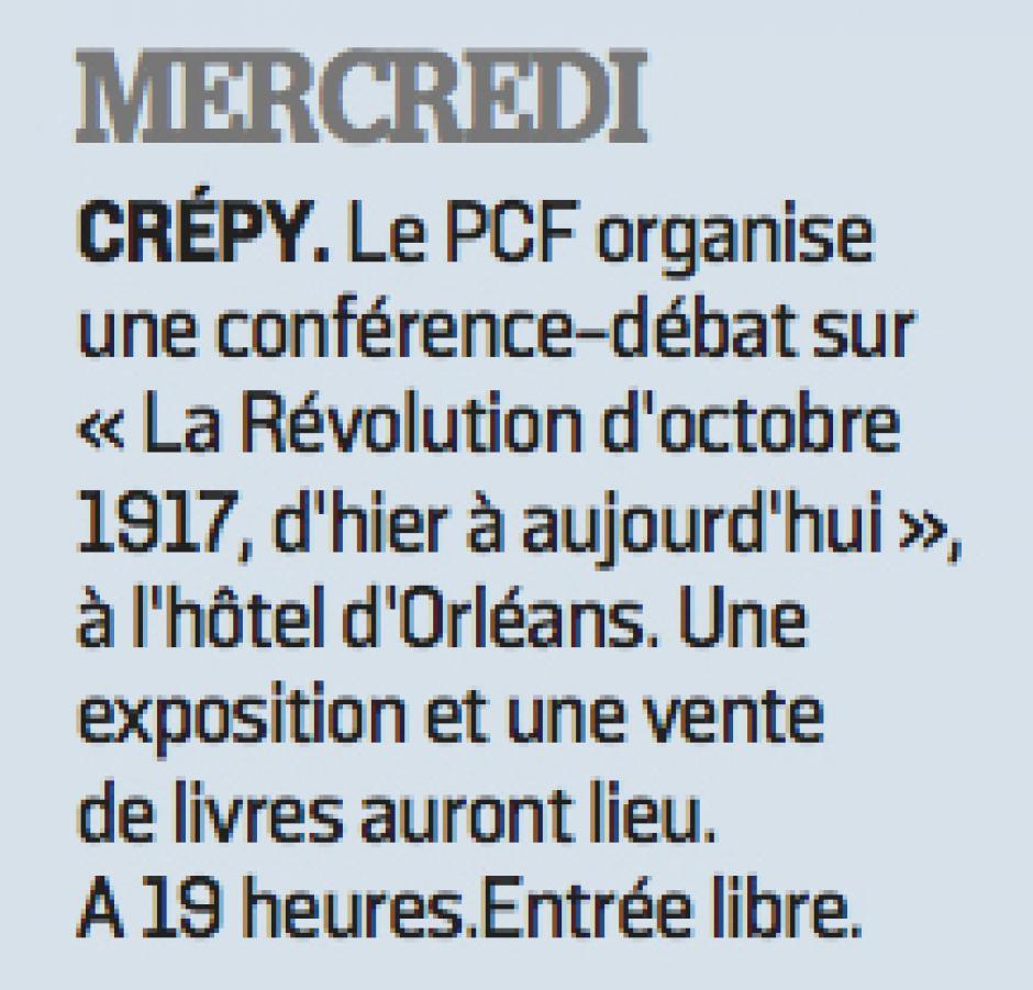20171218-LeP-Crépy-en-Valois-Conférence-débat « La révolution d'Octobre 1917, d'hier à aujourd'hui »