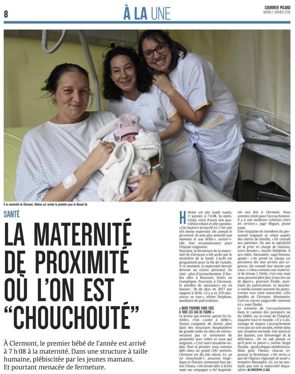 20180102-CP-Clermont-La maternité de proximité où l'on est « chouchouté «