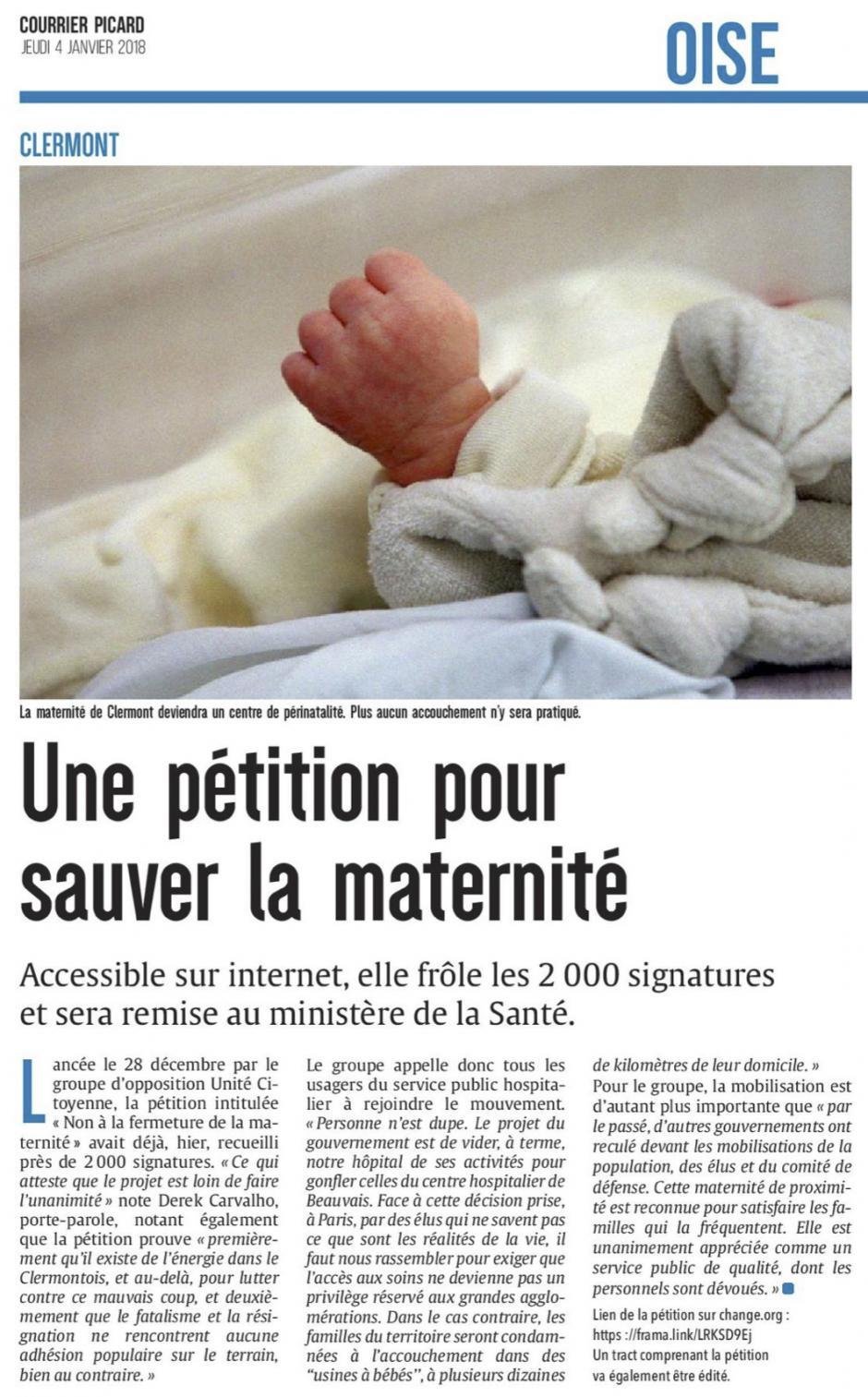 20180104-CP-Clermont-Une pétition pour sauver la maternité