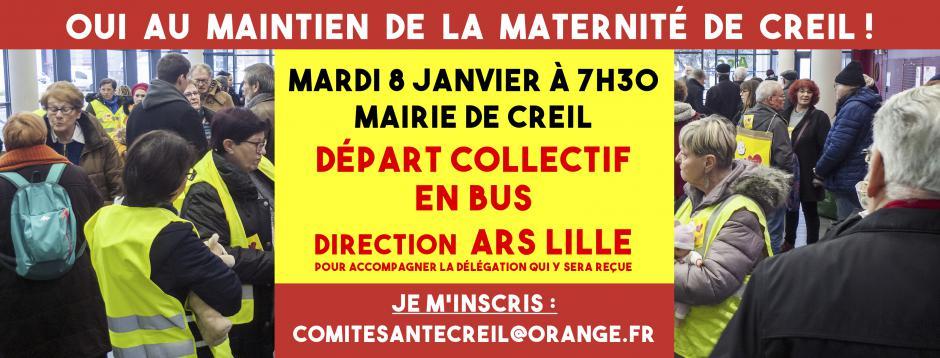8 janvier, Lille - Réception par l'ARS d'une délégation pour le maintien de la maternité de Creil
