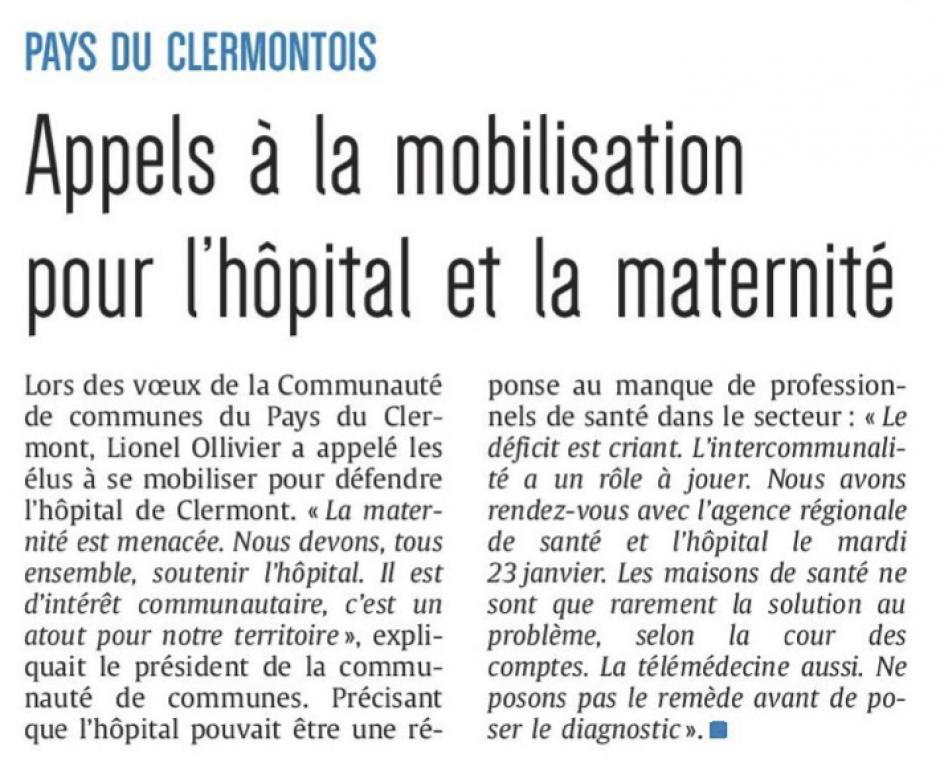 20180113-CP-Clermont-Appels à la mobilisation pour l'hôpital et la maternité