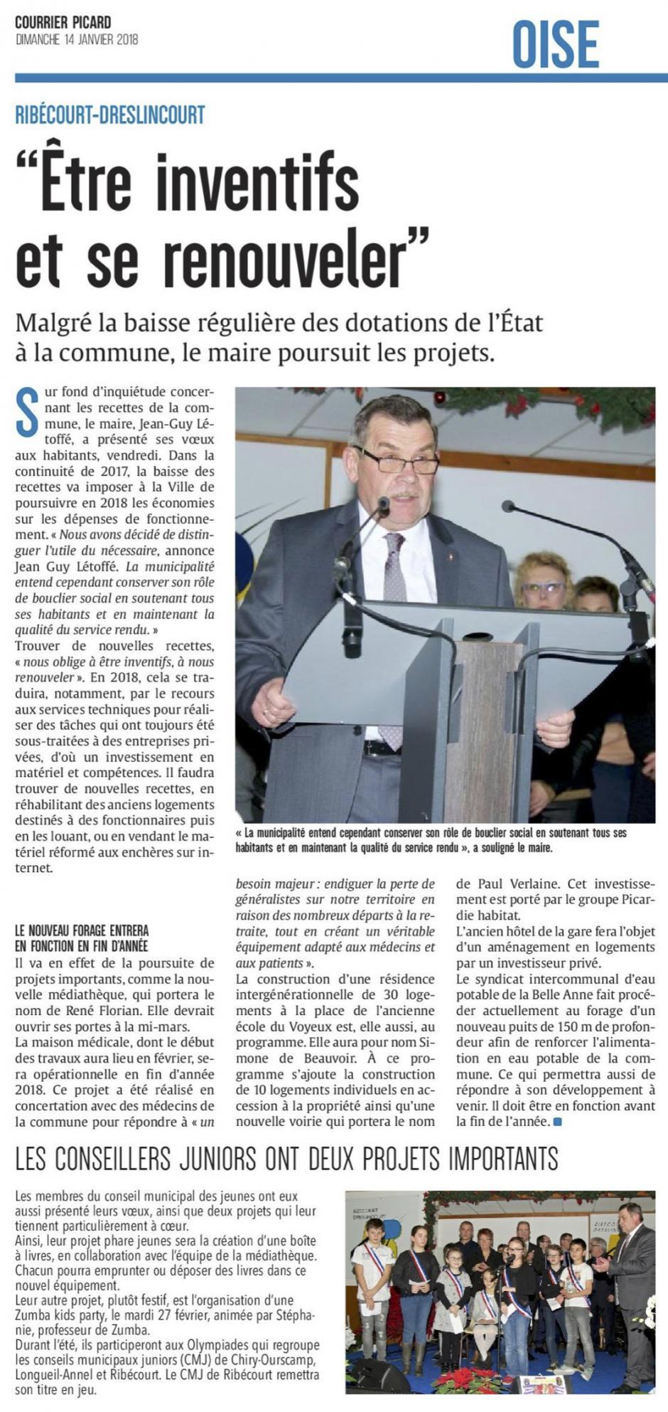 20180114-CP-Ribécourt-Dreslincourt-Jean-Guy Létoffé : « Être inventifs et se renouveler »