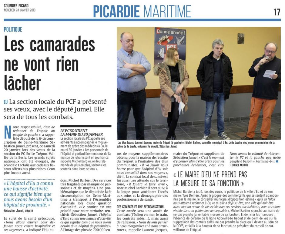 20180124-CP-Eu-Le Tréport-Vallée de la Bresle-Les camarades ne vont rien lâcher [édition Picardie maritime]