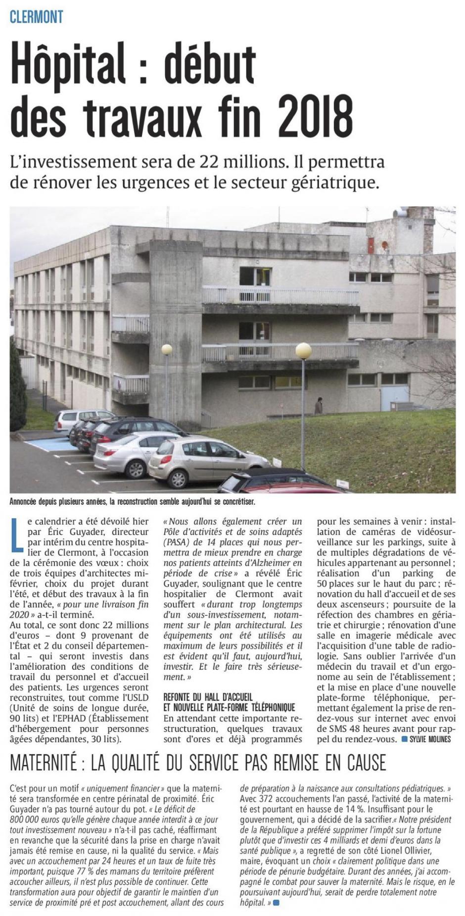 20180125-CP-Clermont-Hôpital : début des travaux fin 2018