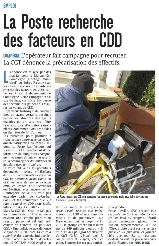 20180125-CP-Compiègne-La Poste recherche des facteurs en CDD