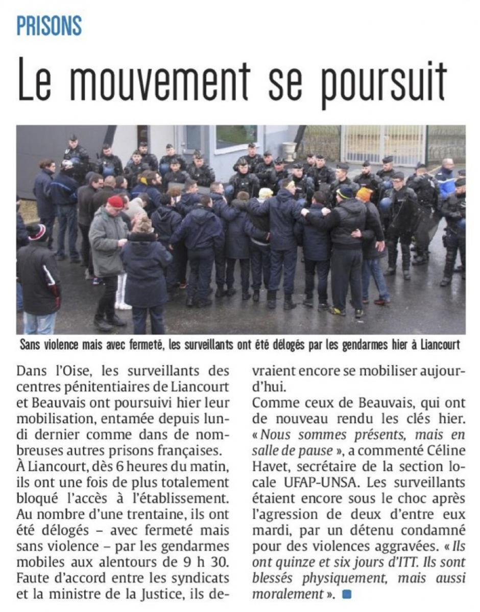 20180125-CP-Picardie-Prisons : le mouvement se poursuit