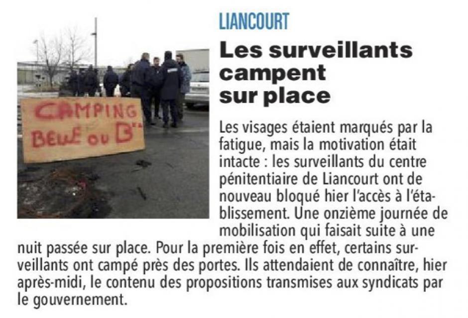 20180126-CP-Liancourt-Les surveillants campent sur place