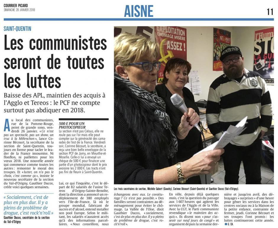 20180128-CP-Saint-Quentin-Les communistes seront de toutes les luttes [édition Aisne]